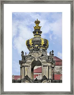 Crown Gate - Kronentor Zwinger Palace Dresden Framed Print by Christine Till
