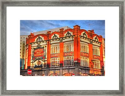 Crown Hotel Framed Print by Barry R Jones Jr