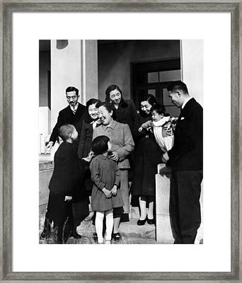 Crown Prince Akihito, Princess Suga Framed Print by Everett