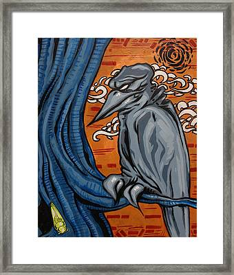 Crows In The Jungle Framed Print by Joshua Dixon