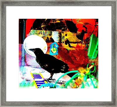 Crow's Piano Framed Print by YoMamaBird Rhonda
