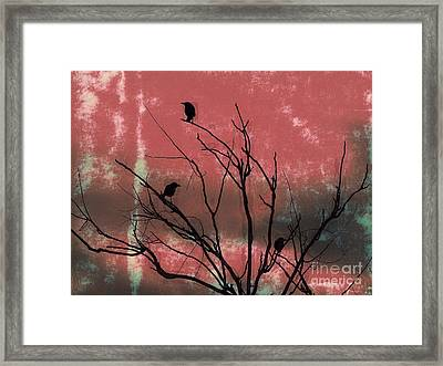 Crows The Watcher Framed Print by Sacred  Muse