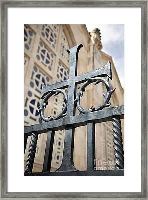 Crucifix At Gethsemane  Framed Print