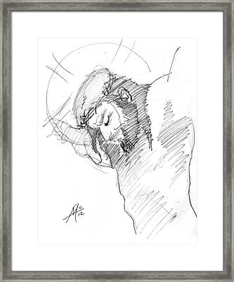 Crucifixion 3 Framed Print by Miguel De Angel