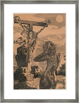 Crucifixion Framed Print by Sirenko