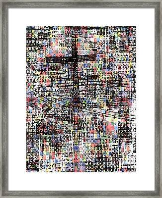 Cruciform Xvii Framed Print by Andy  Mercer