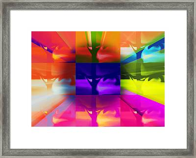 Framed Print featuring the painting Crucify by Susan  Solak