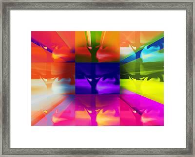 Crucify Framed Print by Susan  Solak