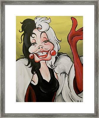 Cruella Framed Print by Lisa Leeman