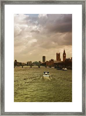 Cruise On River Thames In London - England Framed Print by Alexandre Fundone
