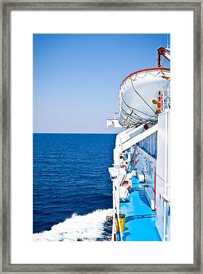 Cruise Ship Framed Print by Tom Gowanlock