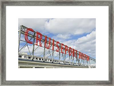 Cruiseport Boston Skyline Framed Print