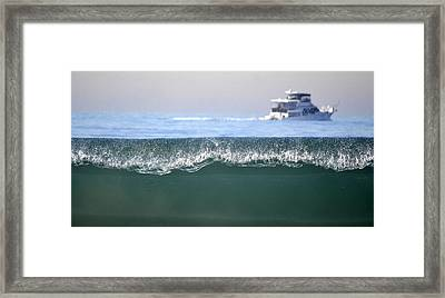 Cruising Beyond The Wave Framed Print by Fraida Gutovich