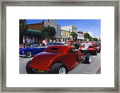 Cruising Main Street Framed Print by Bruce Kaiser