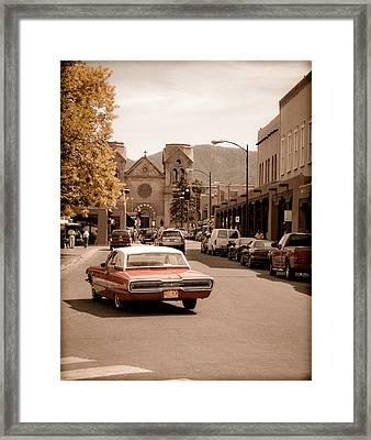 Santa Fe, New Mexico - Cruising Santa Fe Framed Print