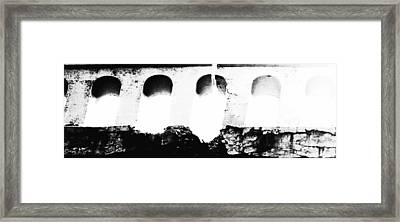 Crumbling Stonework  Framed Print by Howard Perry