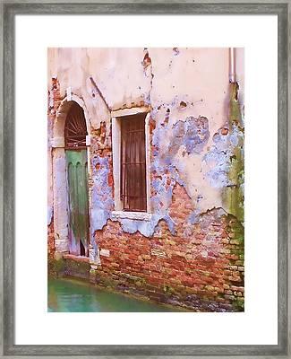 Crumbling Venetian Beauty Framed Print