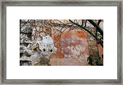 Crumbling Wall Framed Print by Kimberley Bennett