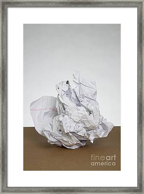 Crumpled Mistake Framed Print by Photo Researchers, Inc.
