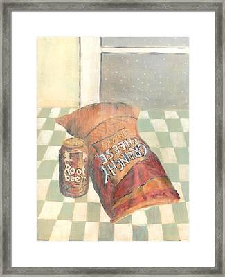 Crunchy Cheese - Winter Framed Print
