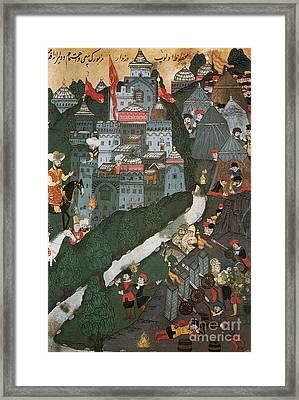 Crusade Of Nicopolis, 1396 Framed Print