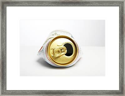 Crushed Beer Can Framed Print by Victor De Schwanberg