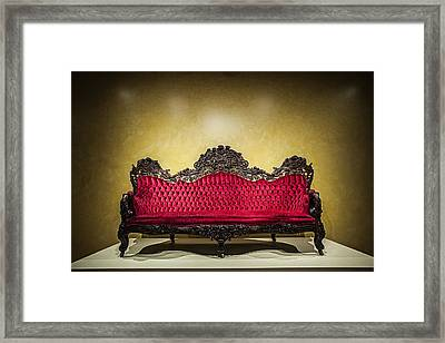 Crushed In Red Framed Print by CJ Schmit
