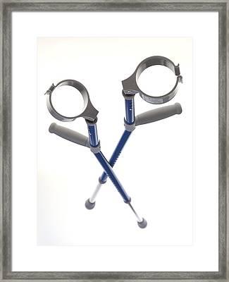 Crutches Framed Print by Tek Image