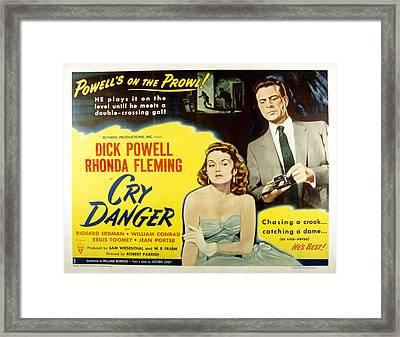 Cry Danger, Rhonda Fleming, Dick Framed Print by Everett