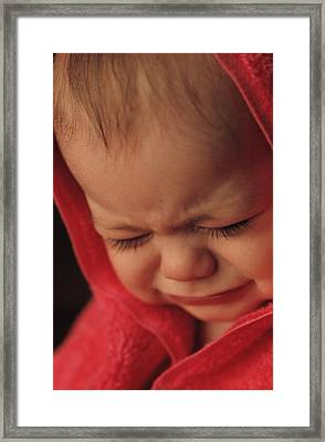 Crying Baby Framed Print
