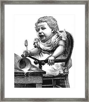 Crying Over Spilt Milk Framed Print by Granger