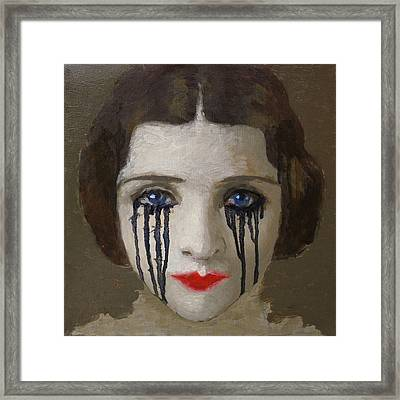 Crying Woman Framed Print by Ilir Pojani