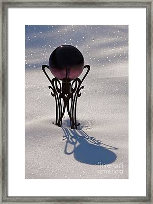 Crystal Ball In Snow Framed Print by Will & Deni McIntyre