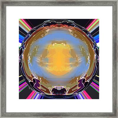 Crystal Ball Framed Print by Rick Thiemke