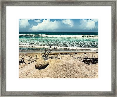 Crystal Blue Persuasion Framed Print