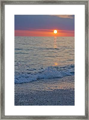 Crystal Blue Waters At Sunset In Treasure Island Florida 2 Framed Print