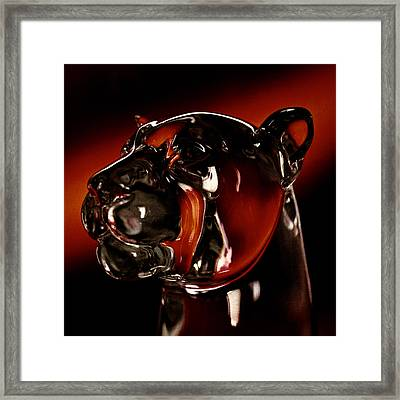 Crystal Cougar Head II Framed Print by David Patterson