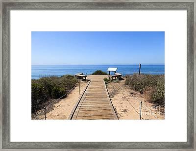 Crystal Cove State Park Ocean Overlook Framed Print by Paul Velgos