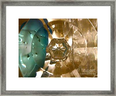 Crystal Glass Abstract Framed Print
