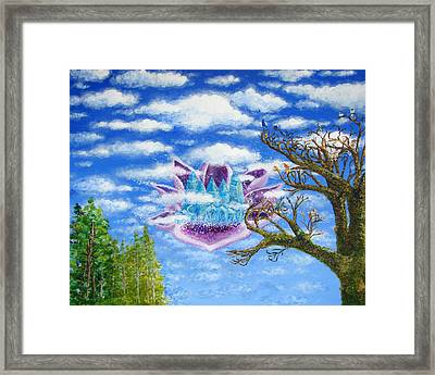 Crystal Hermitage Castle In The Clouds Framed Print by Ashleigh Dyan Bayer