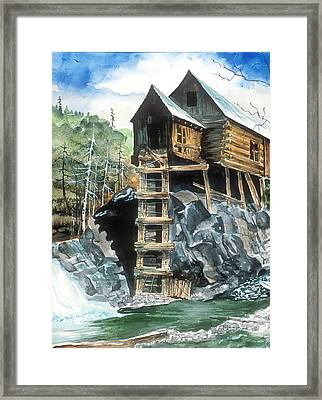 Crystal Mill Colorado Framed Print