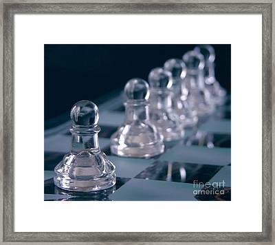 Crystal Pawns Framed Print by Anne Kitzman