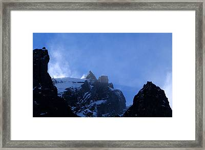 Crystal Plumes Framed Print by Norm Holmberg