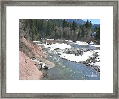 Crystal River Colorado Framed Print