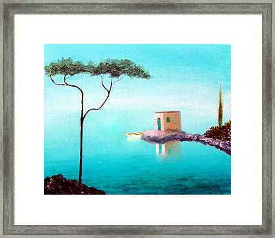 Crystal Waters On The Mediterranean Framed Print by Larry Cirigliano