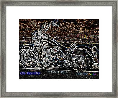 Cu Boulder Colorado Nights Framed Print by Eric Dee