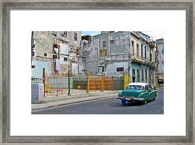 Framed Print featuring the photograph Cuba Vintage American Car  by Lynn Bolt