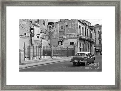 Framed Print featuring the photograph Cuban Car by Lynn Bolt