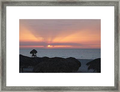Framed Print featuring the photograph Cuban Sunset by David Grant