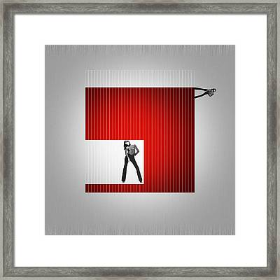 Cube Framed Print by Naxart Studio